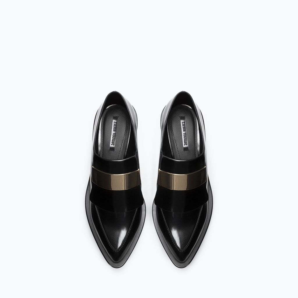 ZARA - SHOES & BAGS - MOCCASIN WITH METAL PIECE