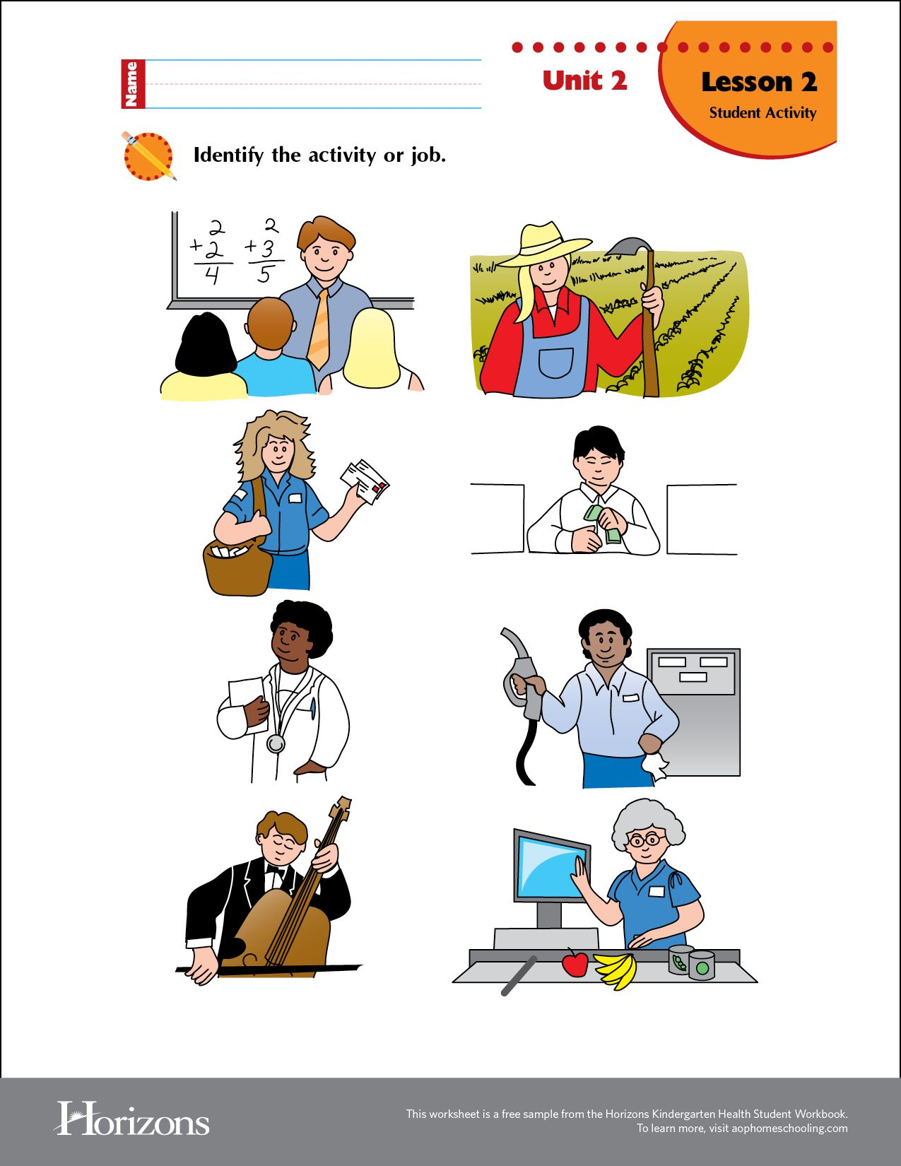 Horizons Preschool Sample Worksheet Curriculum Download