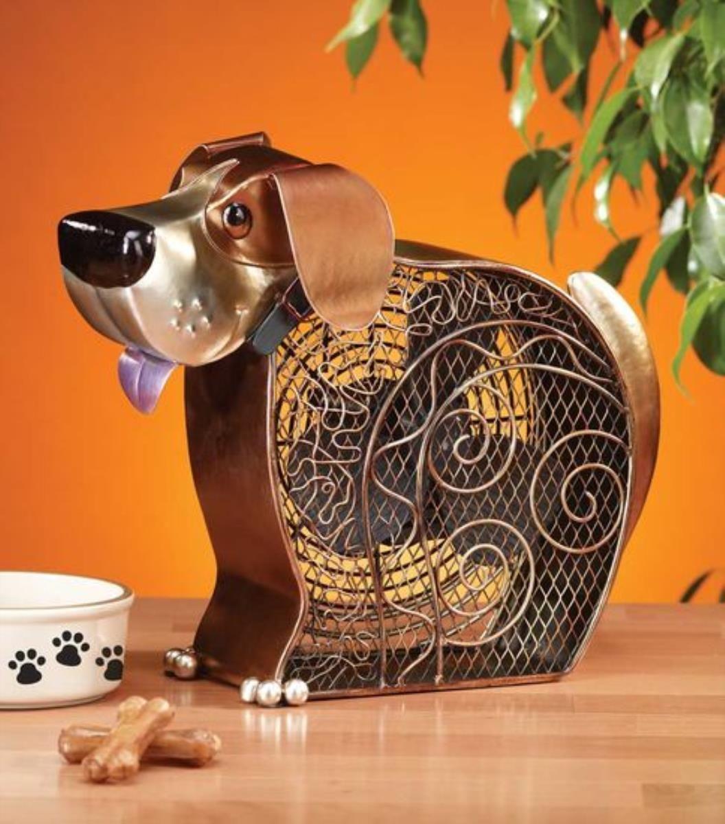 The Deco Breeze Dbf0264 Doggie13 Inch Decorative Table Fan Offers Reliable Service And Gentle Breezes With The Copp Figurine Fan Deco Breeze Fan Fan Decoration