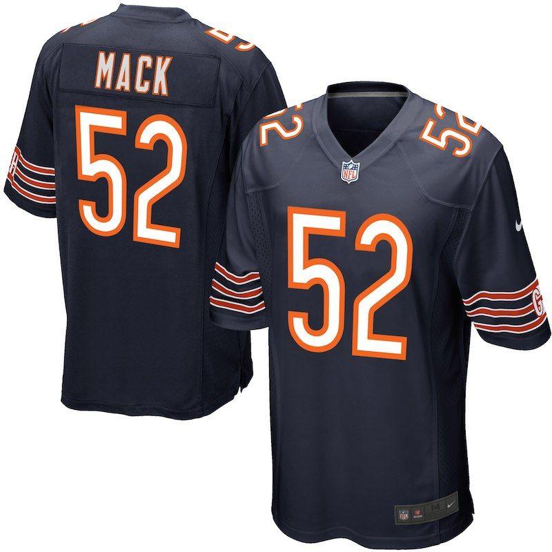 Khalil Mack Chicago Bears Nike Youth Game Jersey Navy Chicago Bears Jersey Chicago Bears Chicago Bears Game