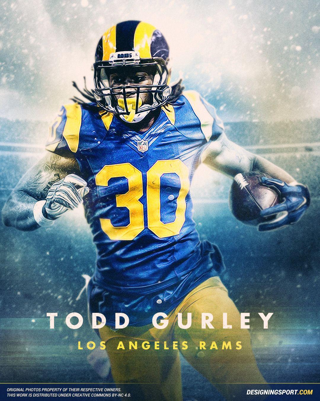 Designing Sport Todd Gurley Los Angeles Rams Todd Gurley Los Angeles Rams Nfl Football