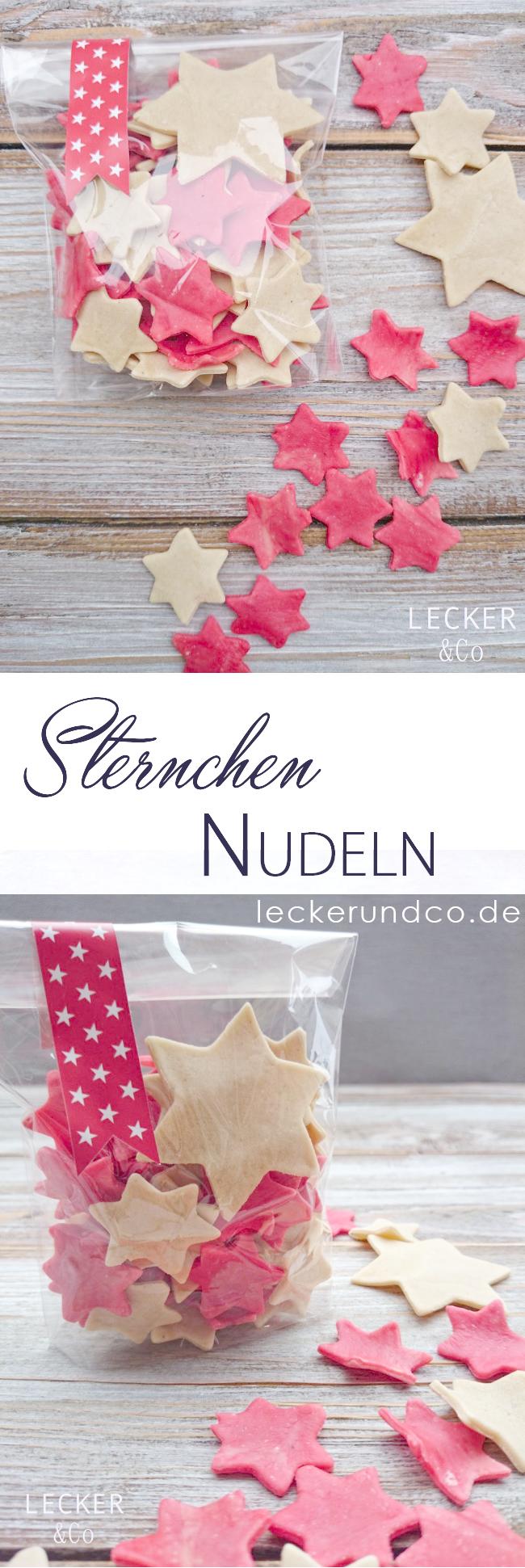 Sternchen-Nudeln - selbstgemachte Pasta | LECKER&Co | Foodblog aus Nürnberg