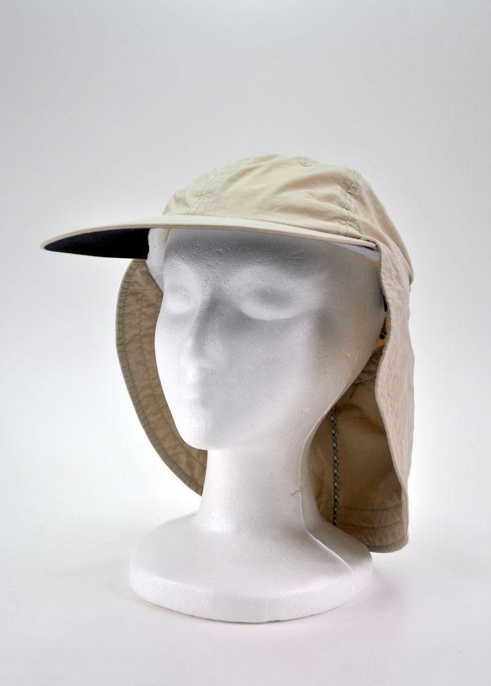 5f8187ca003bd Columbia Lightweight Hunting Fishing Cap Hat Neck Flap Kaki Unisex O S   Columbia  HatNeck