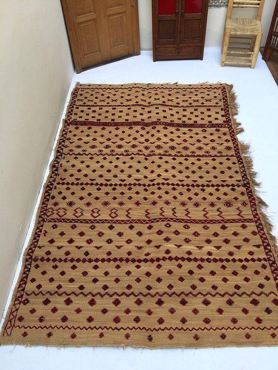 Berber Moroccan Antique Berber Straw Mat Berber Rug Hasira Or Hassira Mat 6 Ft X 9 7 Moroccan Antique Rugs Berber Rug