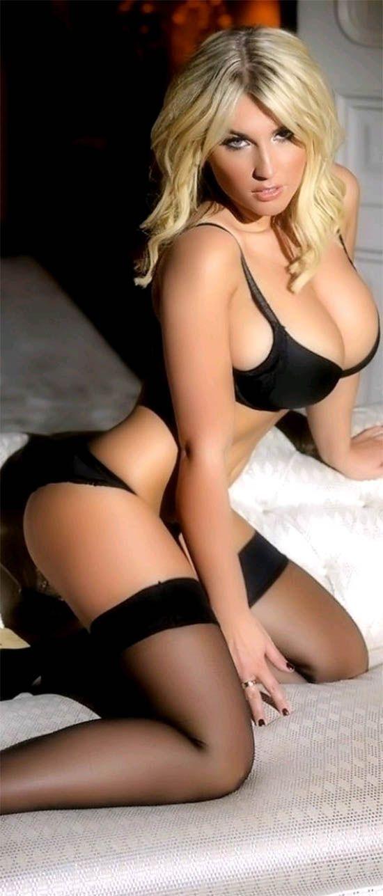 Busty ebony blonde