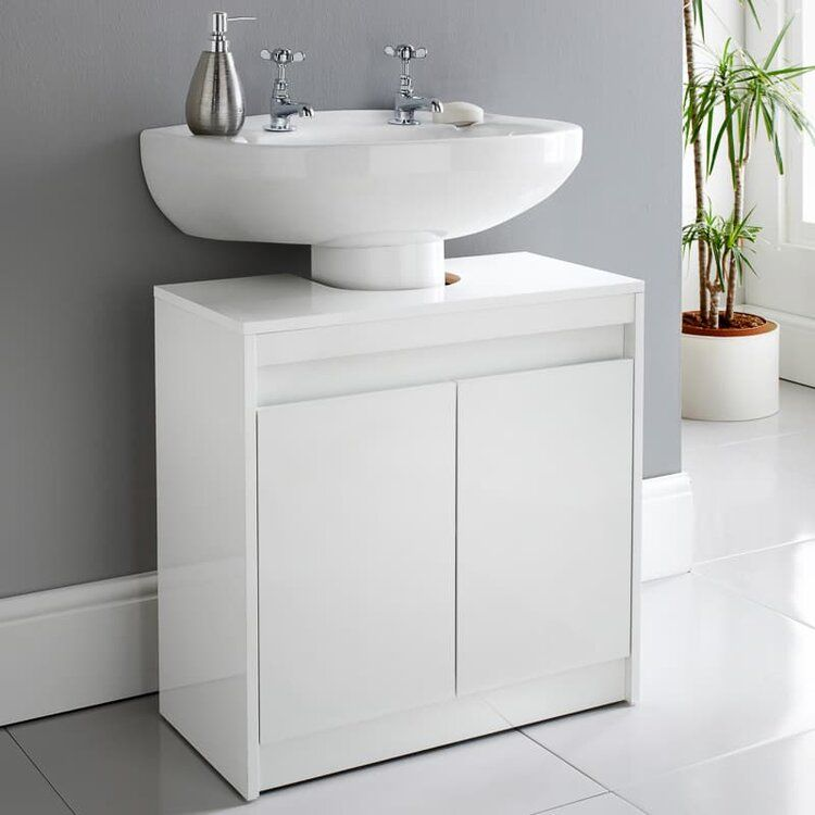 Homesavers Norsk High Gloss Under Sink Cabinet Sink Cabinet Sink Storage Bathroom Under Sink Cabinet