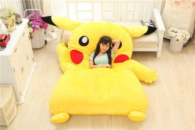 Pokemon Pikachu Stuffed Large Cartoon Japanese Bed