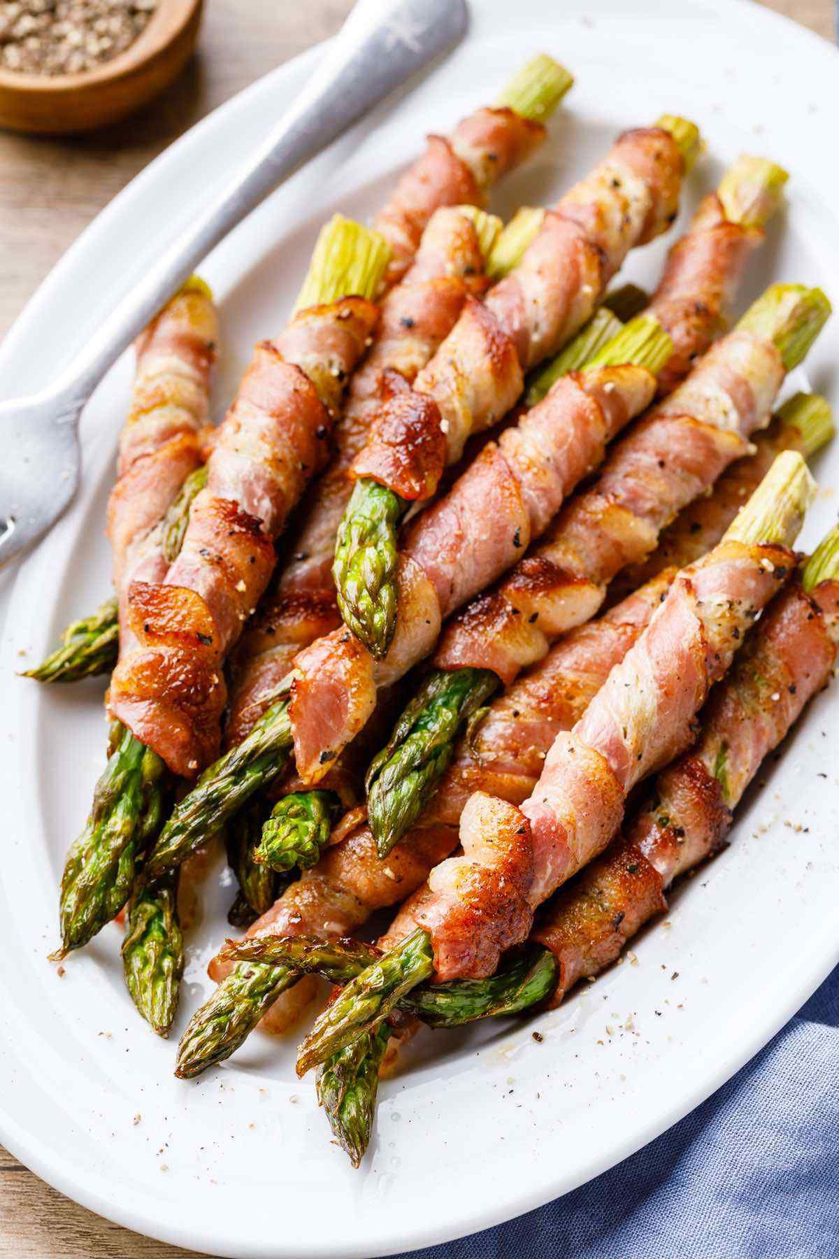 Baked Bacon Wrapped Asparagus Easy 3 Ingredient Recipe