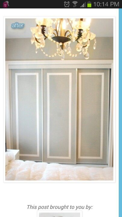 Great Way To Update Closet Doors Craft Ideas Pinterest Closet