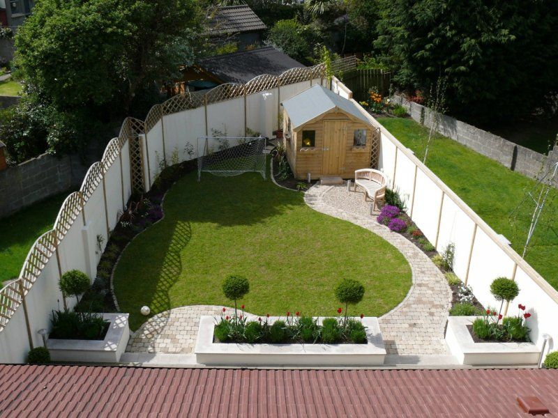 Triangular garden designs landscaping garden design garden