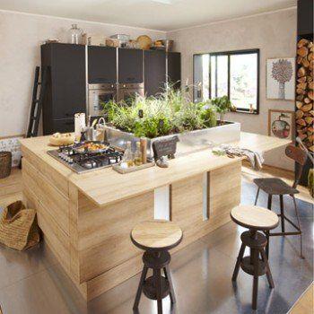 Meuble de cuisine décor chêne blanchi DELINIA Graphic | Leroy Merlin ...