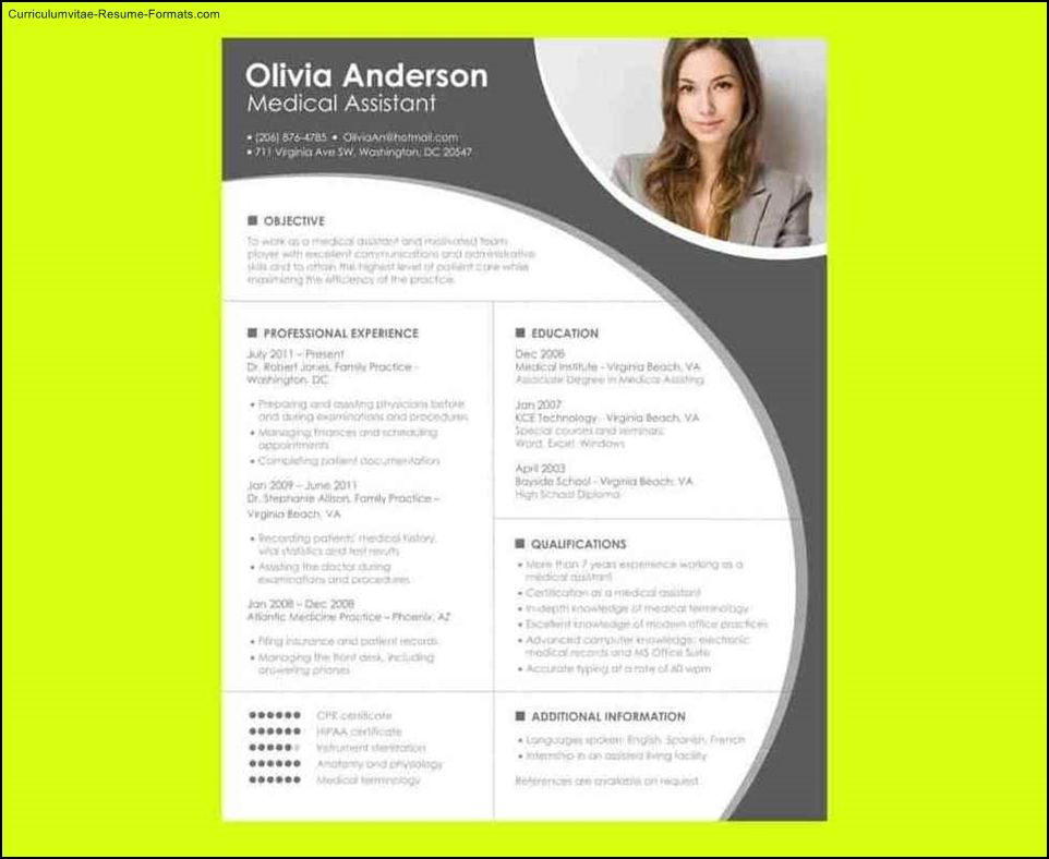Free Sample, Example and Format Resume / CV News Around Me - medical assistant resume template free