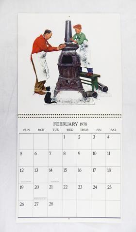 Vintage Hoyle 1978 2023 Norman Rockwell Calendar Norman Rockwell
