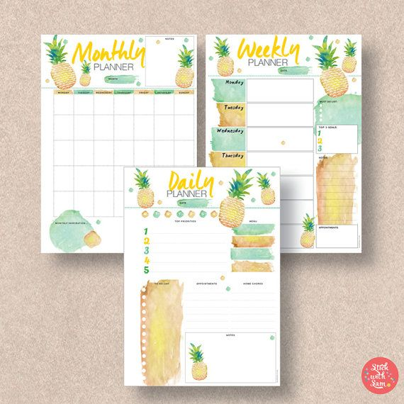 Bullet Journal Insert Printable Template Daily, Weekly  Monthly - half sheet template