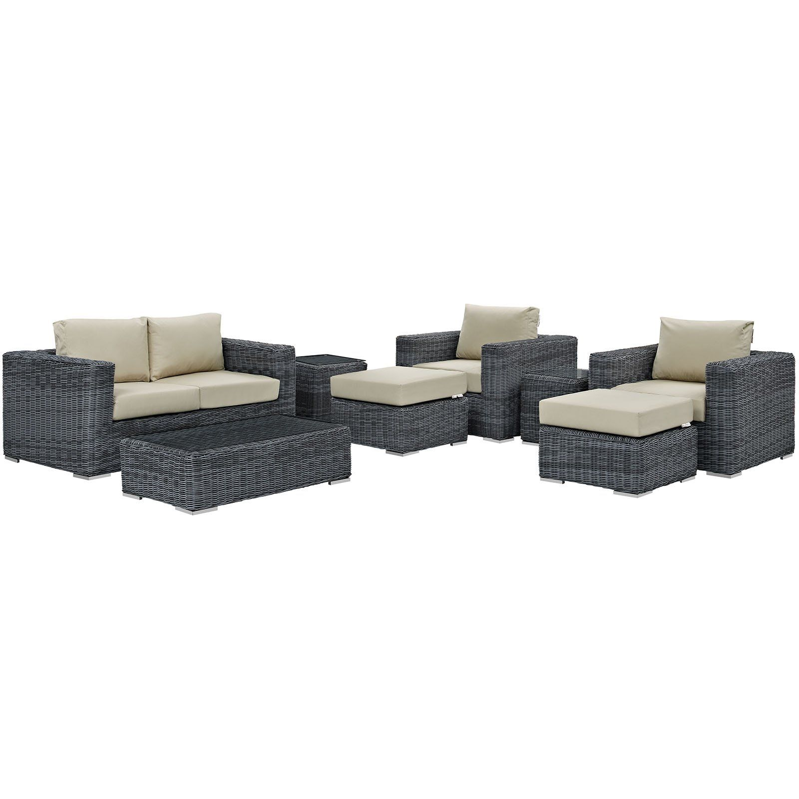 Summon piece outdoor patio sunbrella sectional set eei