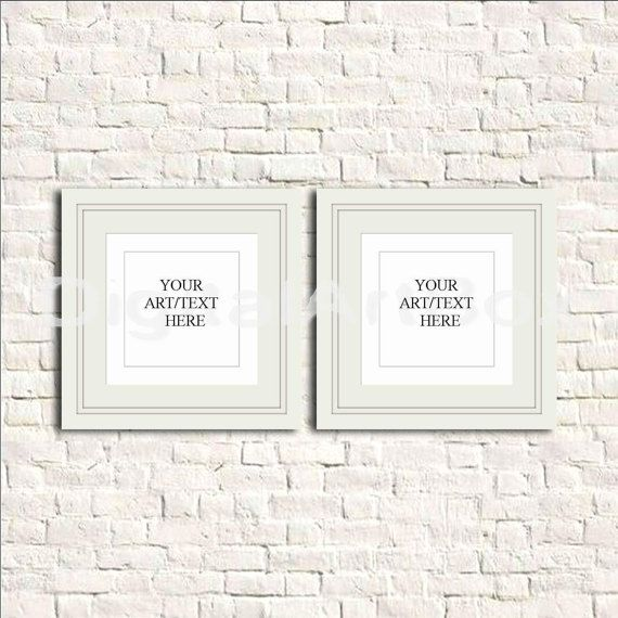 diy poster frameset of two white square by digitalartbox on etsy - White Square Frames