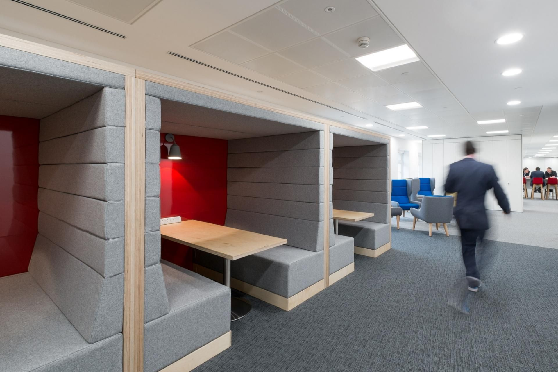 office pods. 11200 Railway Carriage Meeting Pods, Office Pension Corporation Pods