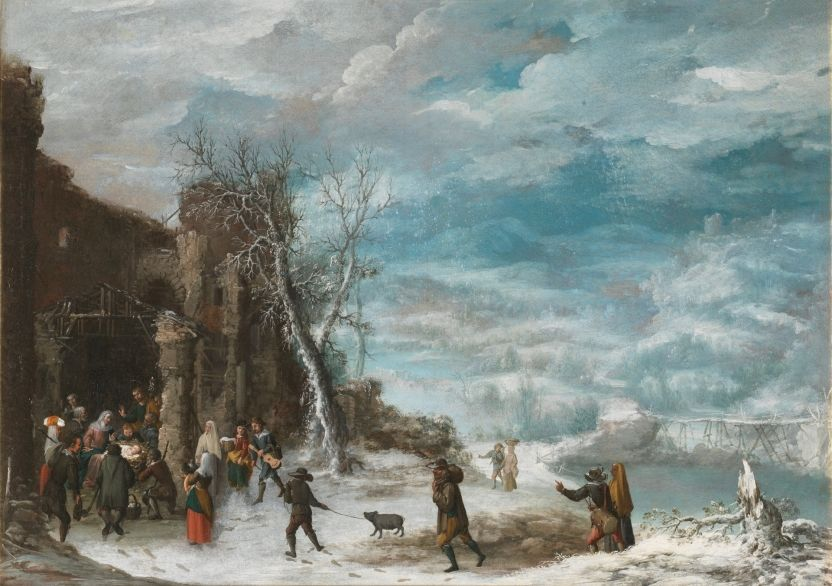 Paisaje de invierno con la Adoración de los pastores - Colección - Museo Nacional del Prado  COLLANTES, FRANCISCO  Madrid, 1599 - Madrid, 1656