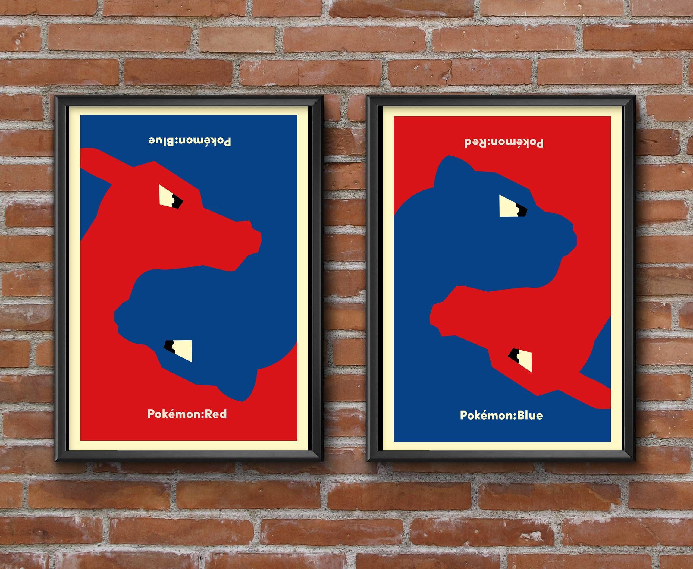20th anniversary pokemon red blue poster imgur weird world of my