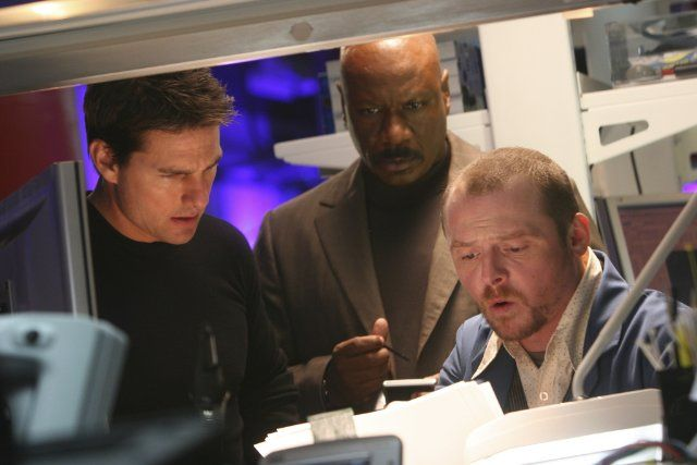 Still of Tom Cruise, Ving Rhames and Simon Pegg in Mission ...