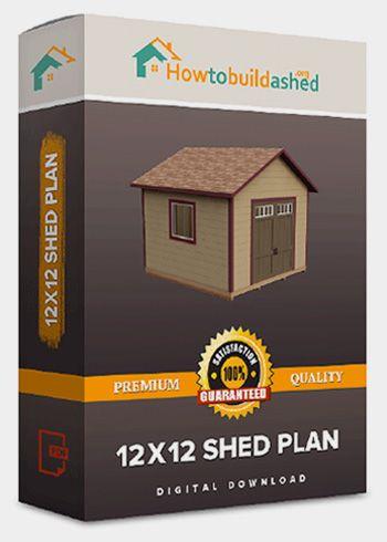12X12 Gable Storage Shed Plan   Howtobuildashed.org