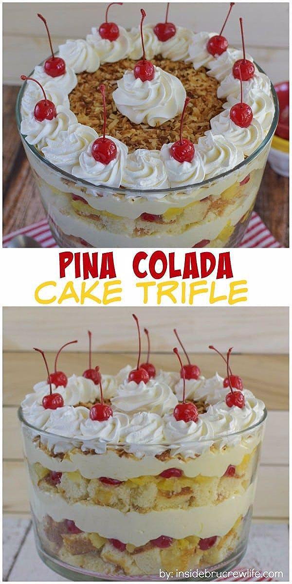 Photo of Pina Colada Cake Trifle Recipe – CUCINA DE YUNG