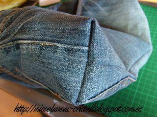 ***Reciclando pantalones vaqueros,ahora bolsos vaqueros***