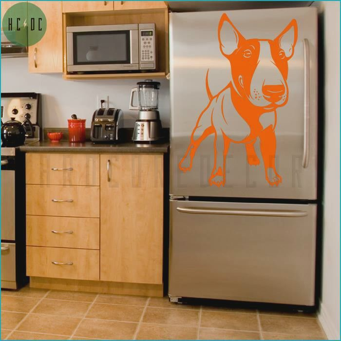 English Bull Terrier Fridge decal... How Cool Is This...