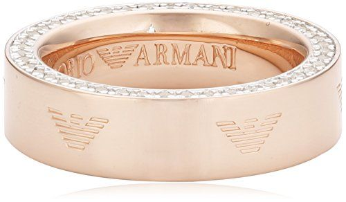 Emporio Armani Damen-Ring Edelstahl Zirkonia weiß Gr.57 (18.1) EG3061221-8