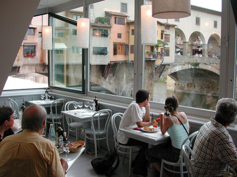 Golden View Open Bar Florence Italy One Of My Favorite Restaurants In All