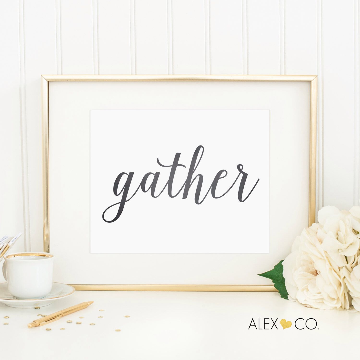 Gather Printable P 5 Print Sign Wedding Decor Kitchen Dining