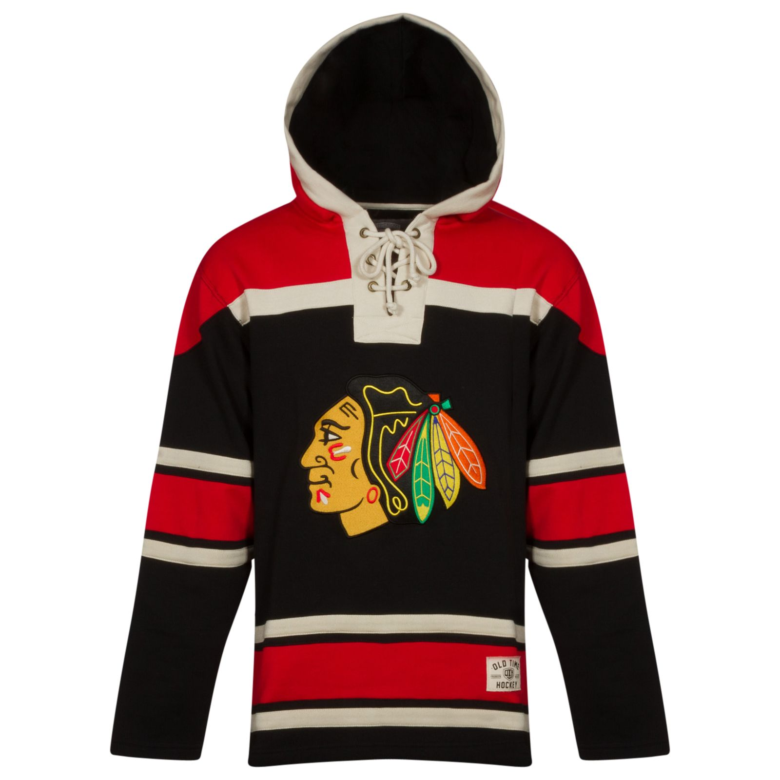 2555ffca5 Chicago Blackhawks Men s 2015 Black Alternate Lace Hoodie by Old Time Hockey   Chicago  Blackhawks  ChicagoBlackhawks