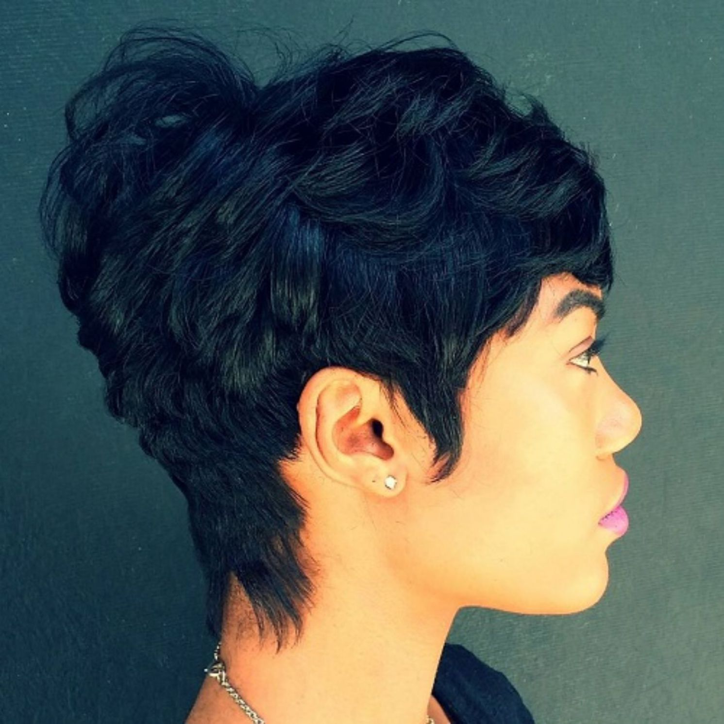 Disheveled pixie for thick hair shorthairstyles short hairstyles