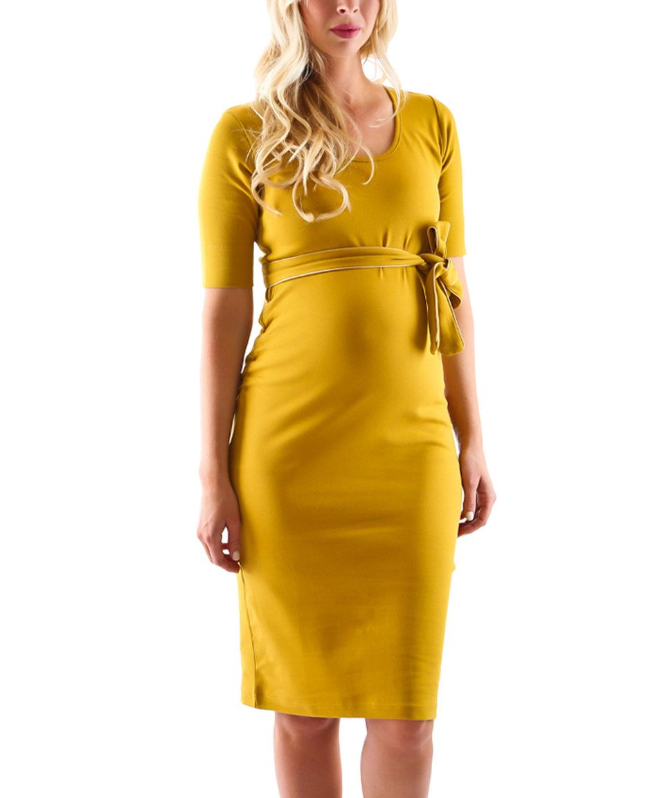 Mustard Yellow Maternity Dresses
