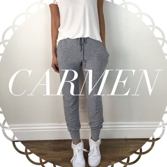 • Reserved • for Carmen • Grey Skinny Joggers (L) • Classic White Blouse (M) • Perfect White Tee (M) • Black Coated Leggings (M) Other