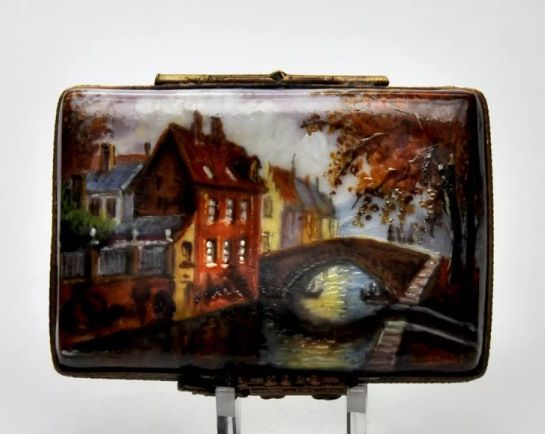 Limoges trinket box. Hand painted. eBay