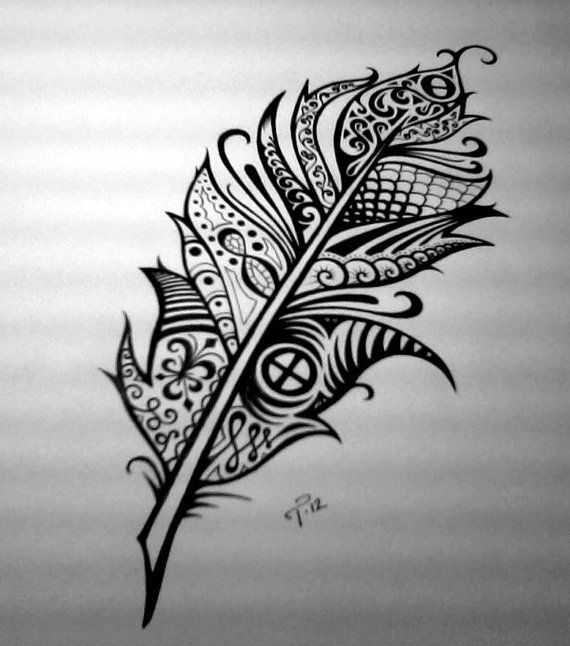 Tattoo Designs With Pen: Custom Ink Drawing Black & White Commissioned Artwork By
