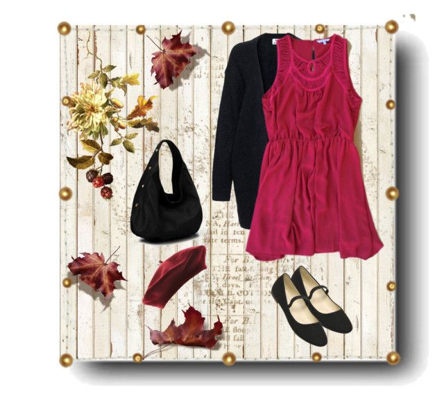 """""""Deloom Autumn Raspberry Dress"""" by megalyssa ❤ liked on Polyvore featuring NLXL, Acne Studios, raspberry and deloom"""