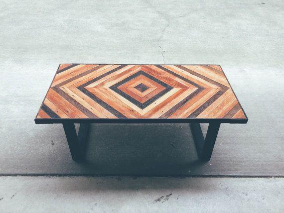 Lee - Geometric Wood Coffee Table | Made To Order | Reclaimed - Modern