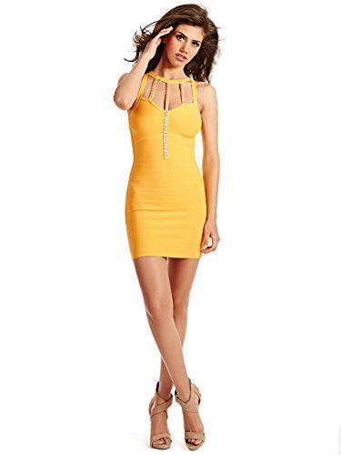 Guess yellow kids chiffon dress