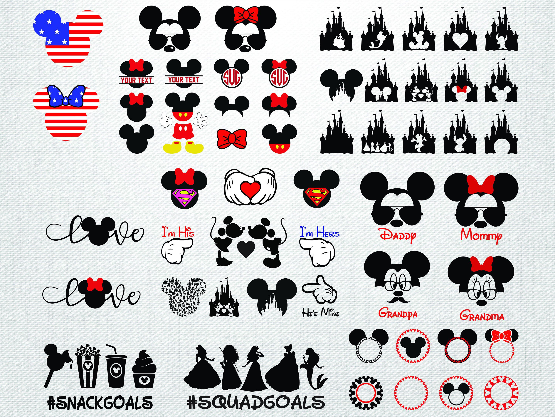 DISNEY Svg Disney Files Svg Disney Bundle Svg Mickey