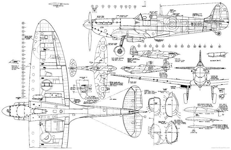 Documentary Spitfire Aircraft And Planesrhpinterest: Spitfire Airplane Schematics Or Drawings At Elf-jo.com