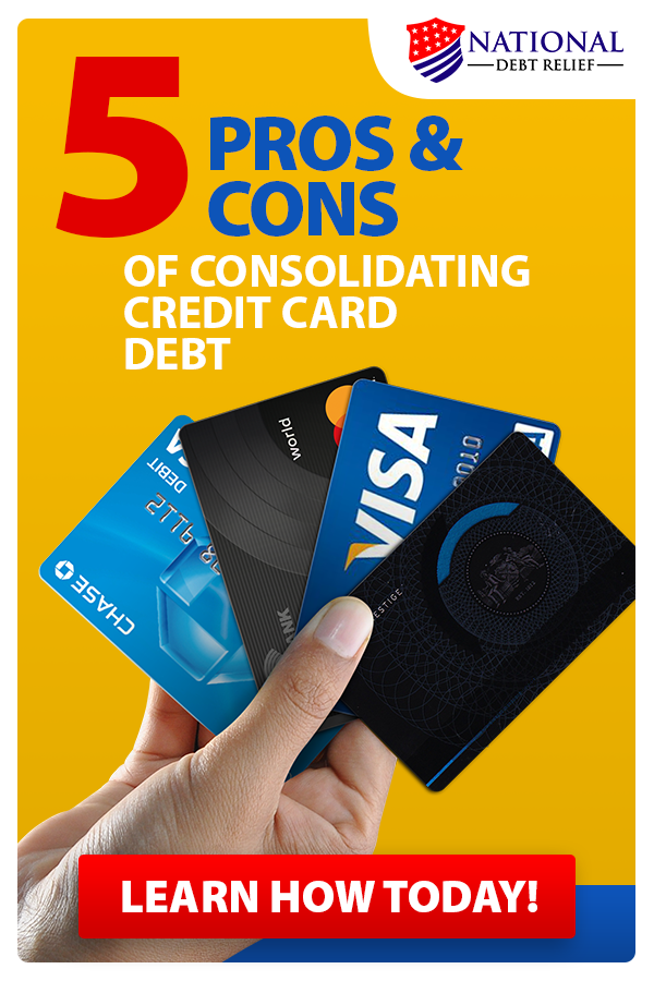 Pros and cons of consolidating credit card debt