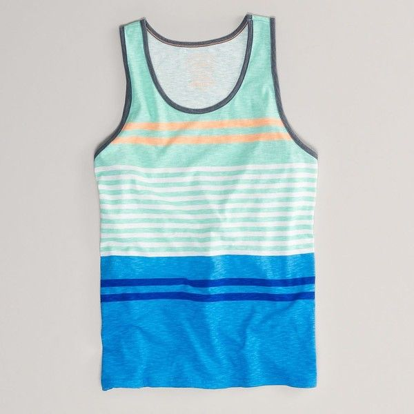 bfc779dab71fac AE Striped Tank ( 15) ❤ liked on Polyvore featuring men s fashion ...