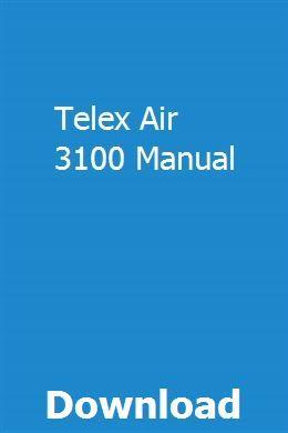 Telex Air 3100 Manual   centcartiochae   50cc, Pdf, Jaguar xf
