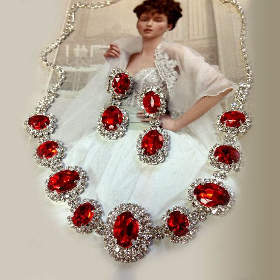 FREE matching earrings are included )) Lady Rose -Wedding jewelry ...