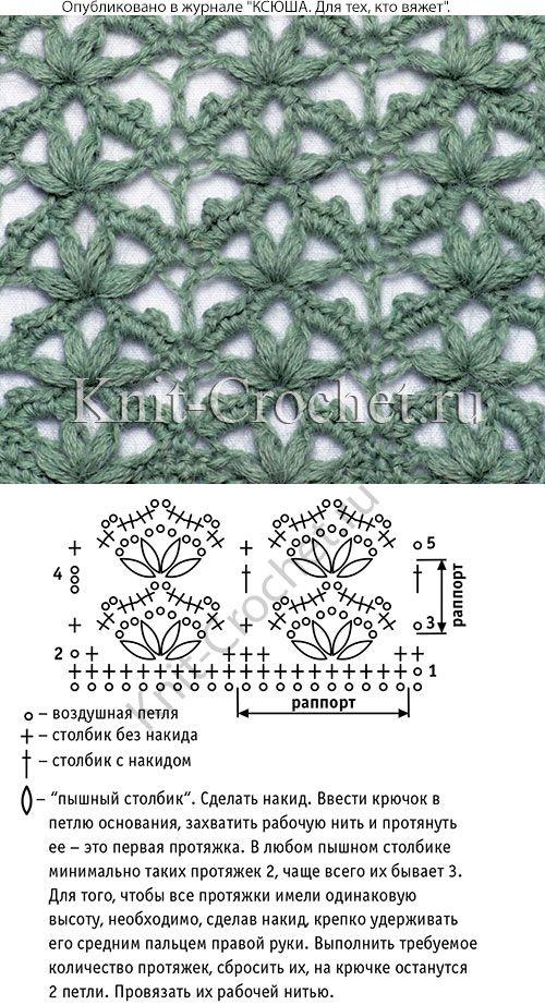 Esquema y símbolos para crochet un patrón calado. | Bordado ...