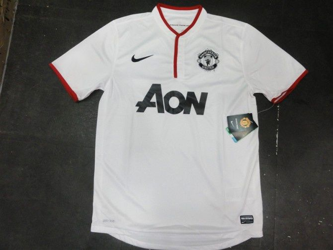 12 13 Man Utd White Football Jersey Thailand Quality And Wholesale Price For Football Jerseys Please Conta Manchester United Soccer Mens Tops Football Jerseys