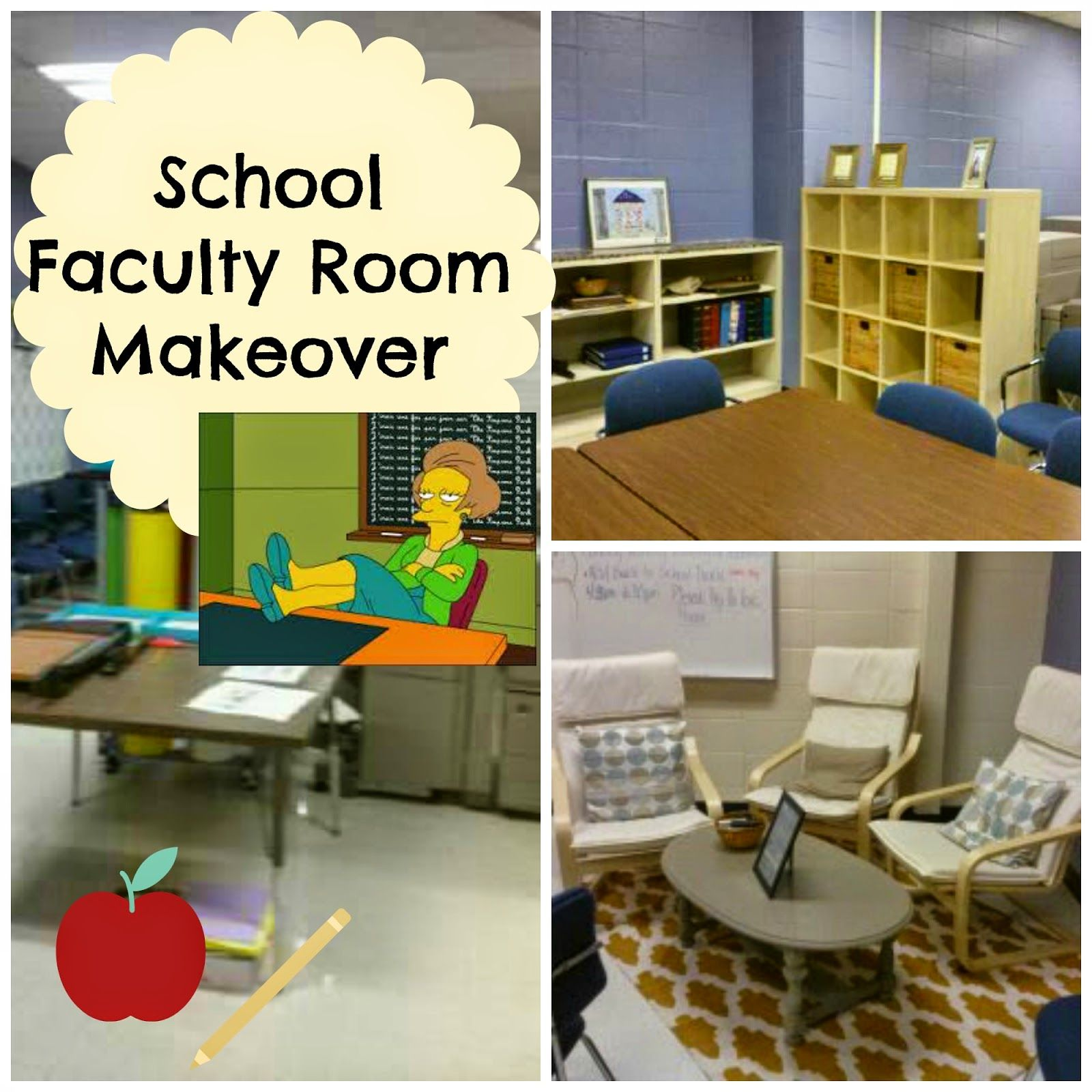 teacher lounge / faculty room makeover on a budget! | classroom
