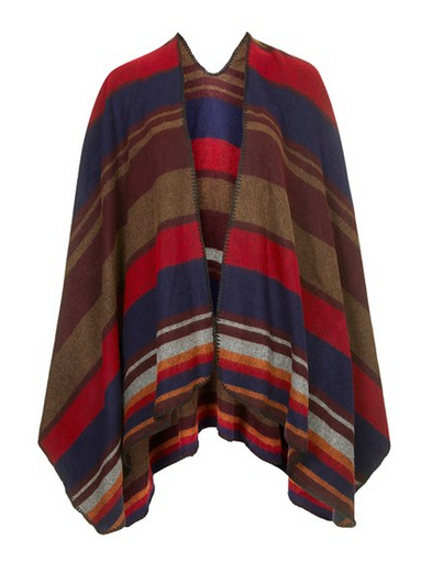 Add a blanket cape's pop of colour and layer of warmth to any outfit — for under $100.